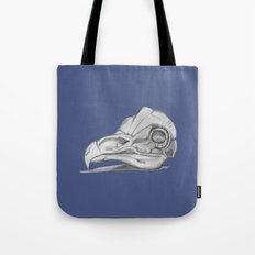 Barn Owl Skull Muted French Blue Tote Bag