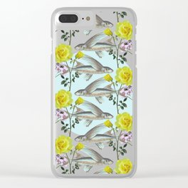 Floral Fishies Clear iPhone Case