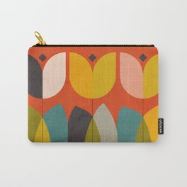 mid century bauhaus floral large 1 Carry-All Pouch
