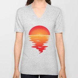 Sunset Unisex V-Neck
