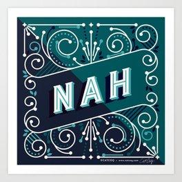 Nah – Teal Palette Art Print