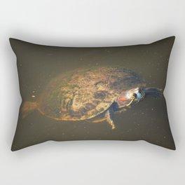 Algae Turtle Rectangular Pillow