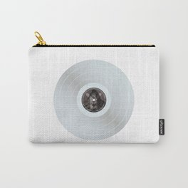 White vinyl Carry-All Pouch