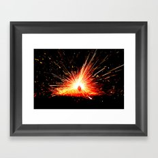 Theory of Combustion Framed Art Print