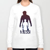 messi Long Sleeve T-shirts featuring Leonel Messi by Sport_Designs
