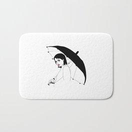 Umbrella Girl Bath Mat