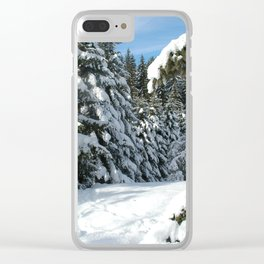 Snowy Meadow Clear iPhone Case