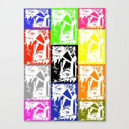 art whit al colours you love Canvas Print