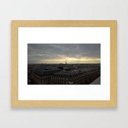 Eiffel Tower in the sunset Framed Art Print