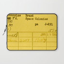 Library Card 797 Yellow Laptop Sleeve