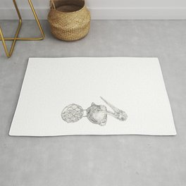 Holding on - The Dalmatian Pelican Rug