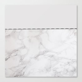 Elegant vintage white gray stylish marble Canvas Print