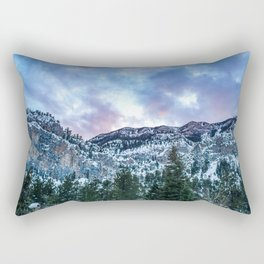 Snowcap Mountain | Sunset at Mount Charleston Mary Jane Falls Road National Forest Road Trip Sky Rectangular Pillow