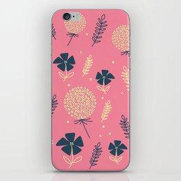 flower pattern spring leaves iPhone Skin