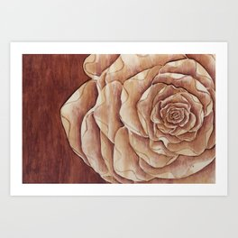 Raining Rose Art Print