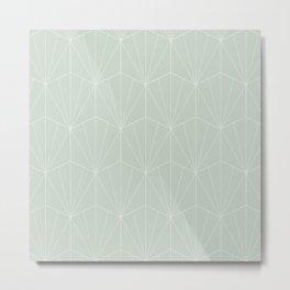 Gisela Geometric Line Pattern - Sage Metal Print