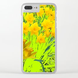 YELLOW SPRING DAFFODILS GARDEN Clear iPhone Case