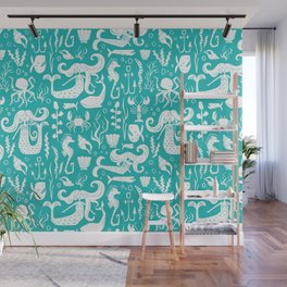 Under The Sea Aqua Wall Mural