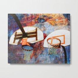 Basketball hoops art Metal Print