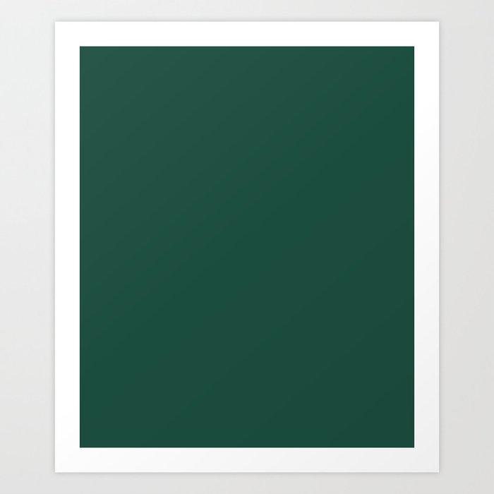 Brunswick Green - solid color Kunstdrucke