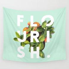 Flourish #society6 #buyart #typography #artprint Wall Tapestry