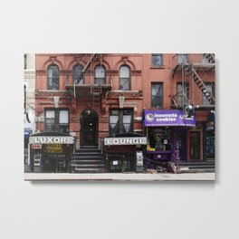 Stores and business in MacDougal Street, NYC Metal Print