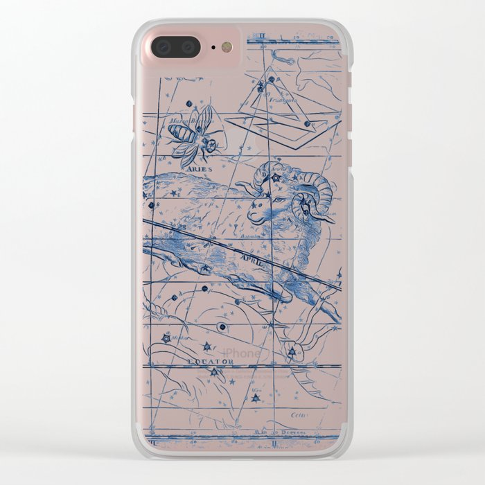 Aries sky star map Clear iPhone Case
