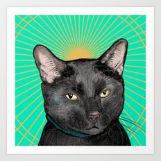 Radiant Sun Cat Art Print