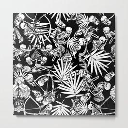 Tropical Skull Valley Metal Print