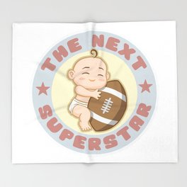 The next superstar - american football Throw Blanket