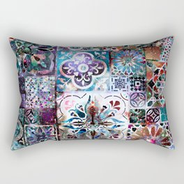 Celestial Tile Pattern Rectangular Pillow