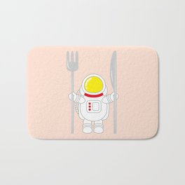 Space Odyssey | Astronaut Eats | Space Utensils | Galaxy Fork and Knife | pulps of wood Bath Mat