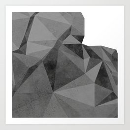 Concrete Polygonal texture Art Print