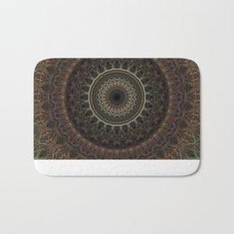 Mandala in brown tones Bath Mat