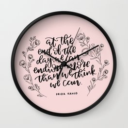 INSPIRATION FROM THE LADY WITH THE FAB EYEBROWS Wall Clock