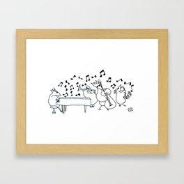Bird Boogie Framed Art Print