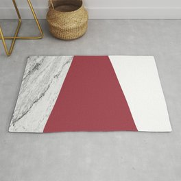 Marble Jester Red Geometry Rug