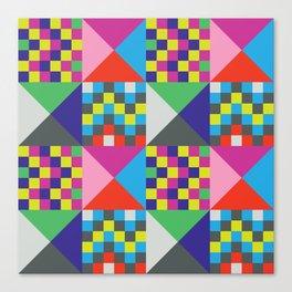 geometric//pattern//amazin-ness Canvas Print