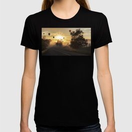 Hot Air Balloons on a Foggy Morning T-shirt