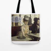 degas Tote Bags featuring Talking Paintings - Degas by madraccoon