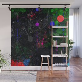 Digital Artist Textured Paint Splash Abstract Wall Mural