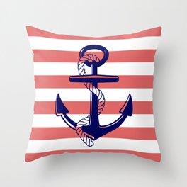 Anchor Stripe Throw Pillow