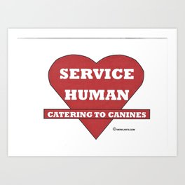 catering to canines Art Print
