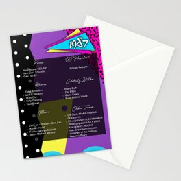 Born in 1987- Birthday Card Stationery Cards