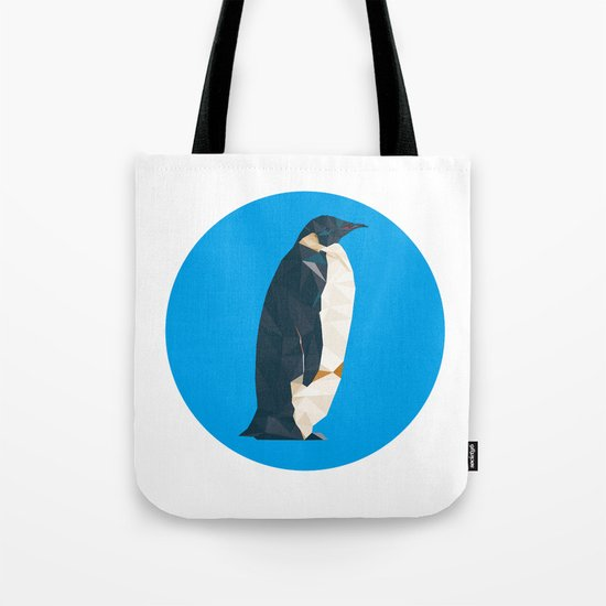 cyan penguin Tote Bag