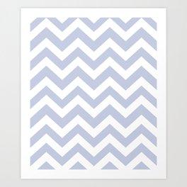 Light periwinkle - heavenly color - Zigzag Chevron Pattern Art Print