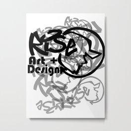 RISE - Full Tag Logo Metal Print