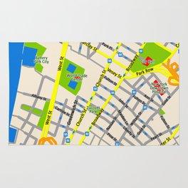 NEW YORK map design Rug