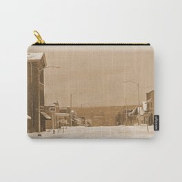 Old Main Street in the Snow Carry-All Pouch