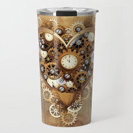 Steampunk Heart Love Travel Mug